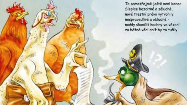 Komiks Kachny contra slepice