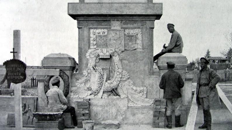 Výstavba pomníku v Čeljabinsku byla dokončena 27. 9. 1918