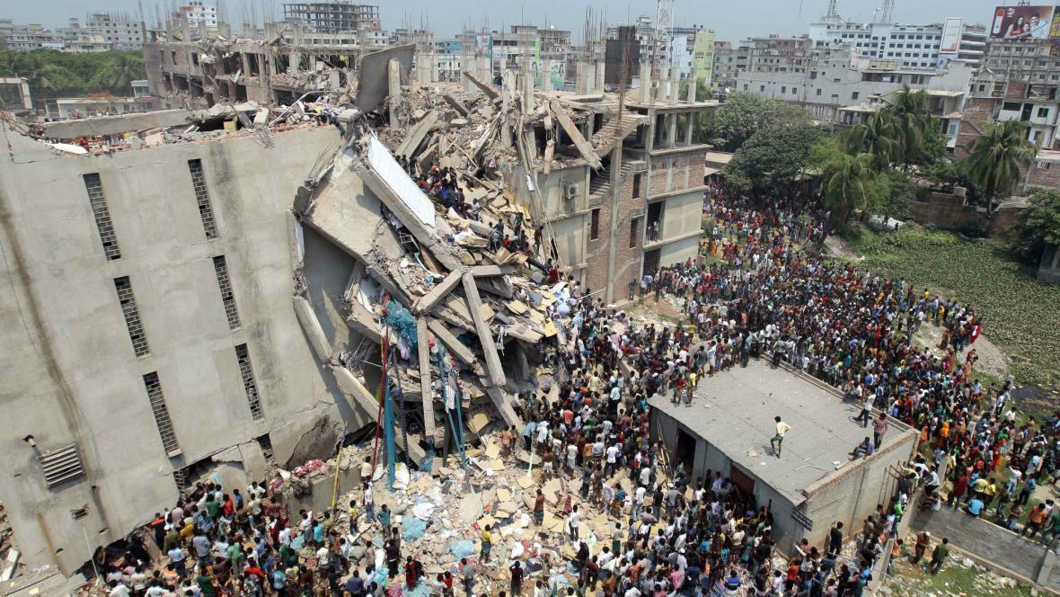 Zřícení budovy v Bangladéši