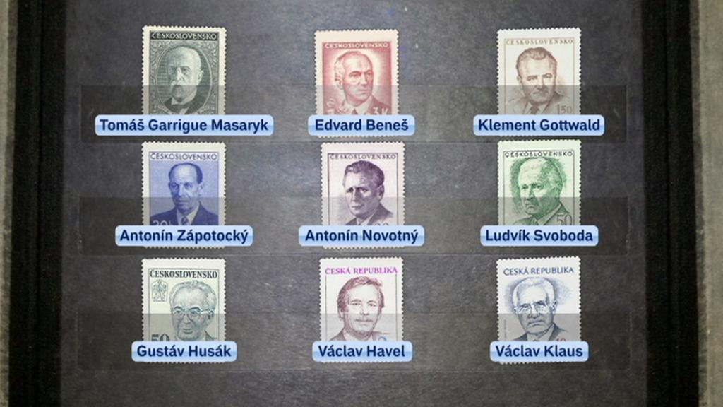 Známky s podobiznami prezidentů