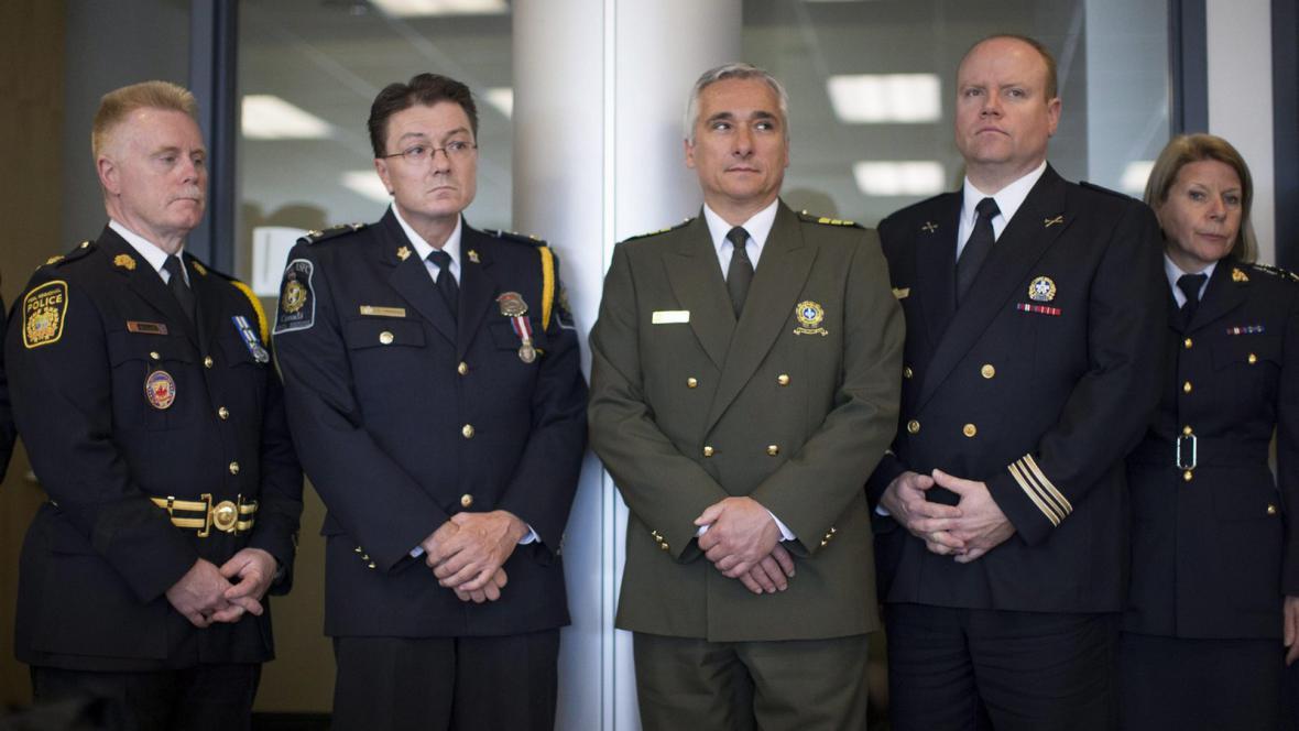 Zástupci kanadských bezpečnostních složek