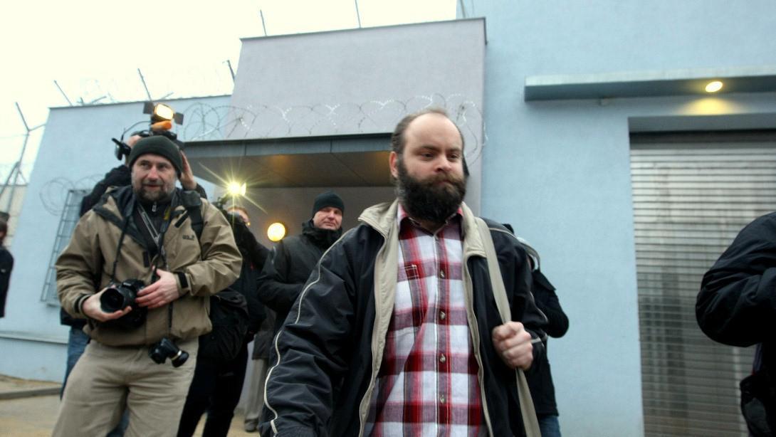 Roman Smetana při propuštění