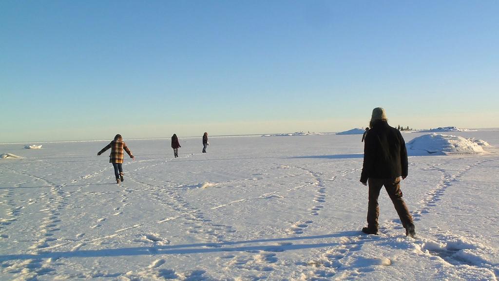 Procházka po zamrzlém moři