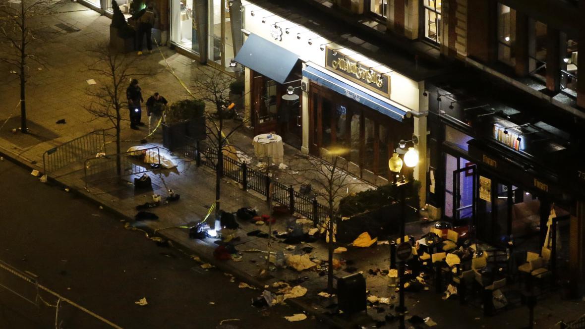 Následky výbuchu v Bostonu