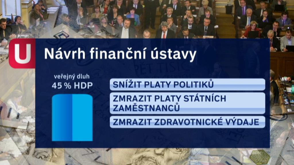 Návrh finanční ústavy s dluhem 45 % HDP