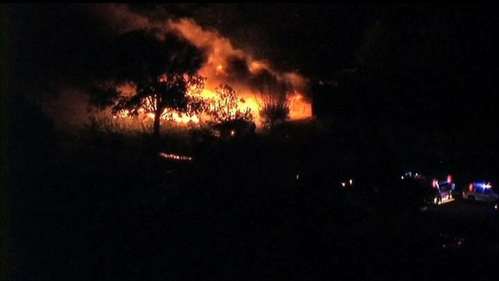 Požár továrny na hnojiva ve Westu, Texas
