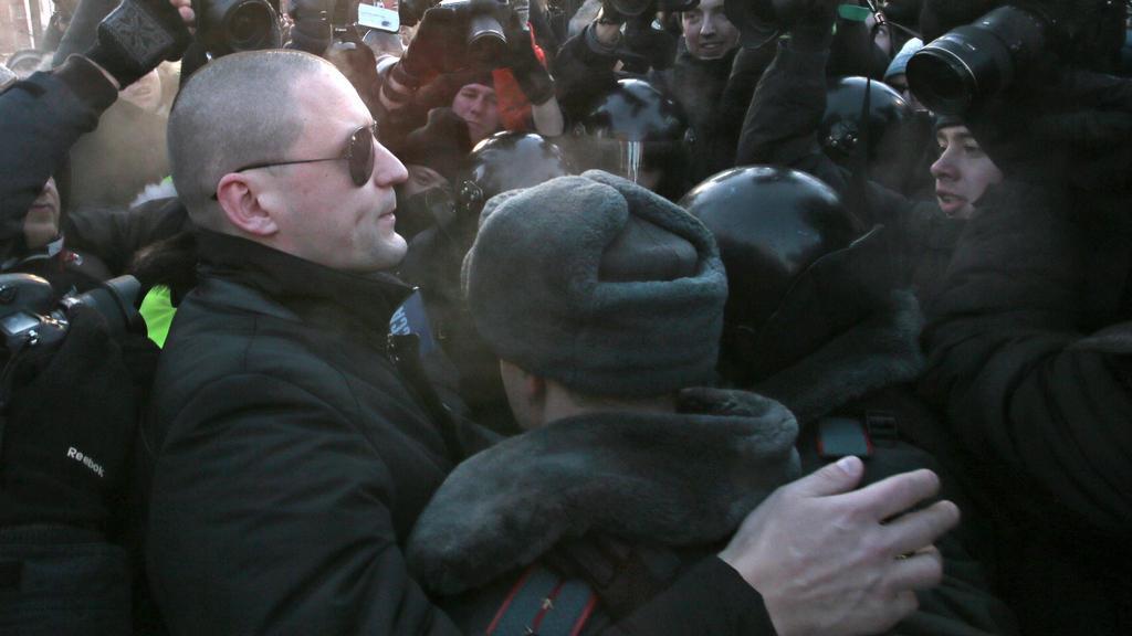Sergej Udalcov byl na nepovolené akci znovu zatčen