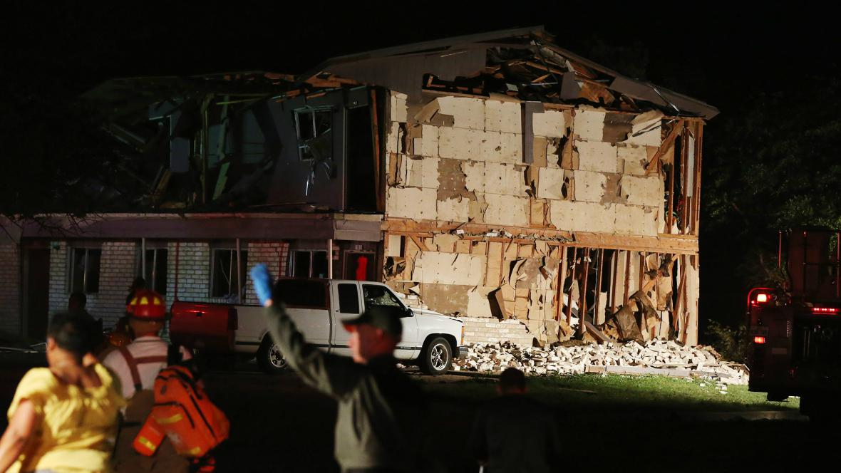 Výbuch v texaském Westu