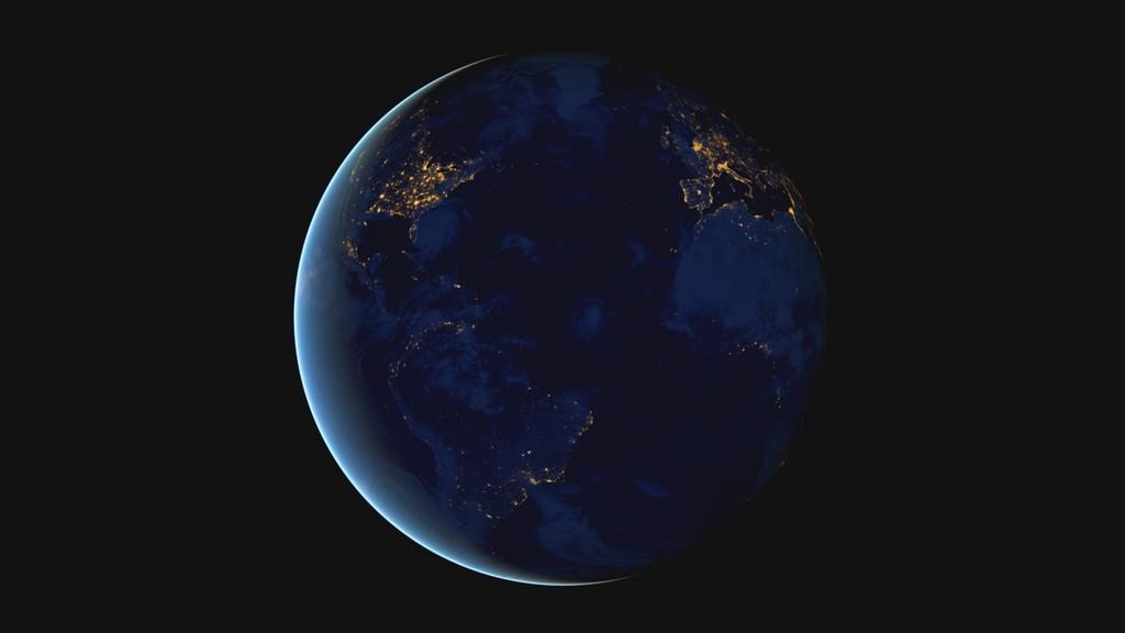Noční snímky planety Země