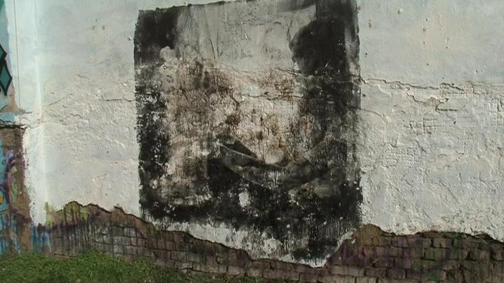 Výsledná fotografie na zdi