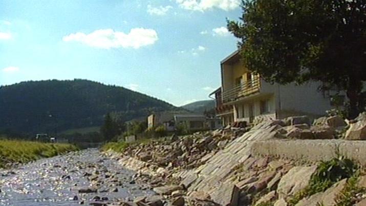Povodně ve Štěpánově v roce 2002