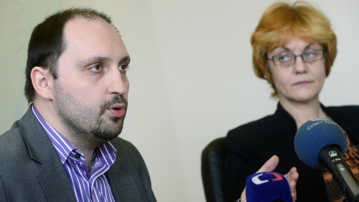 Ředitelka ÚSTR Pavla Foglová a první náměstek Zdeněk Hazdra