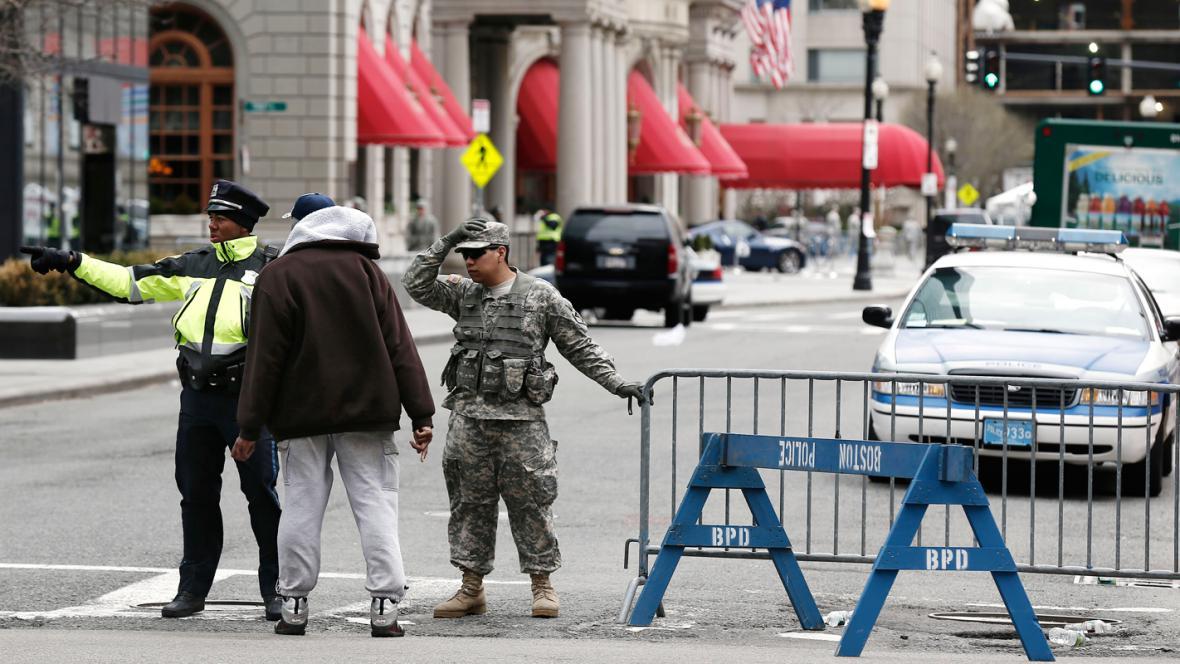Bostonská policie hlídá místo činu