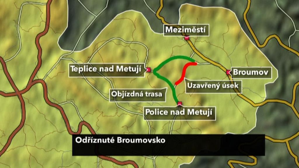 Objížďka na Broumovsku
