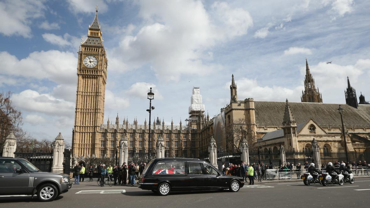 Převoz ostatků Margaret Thatcherové