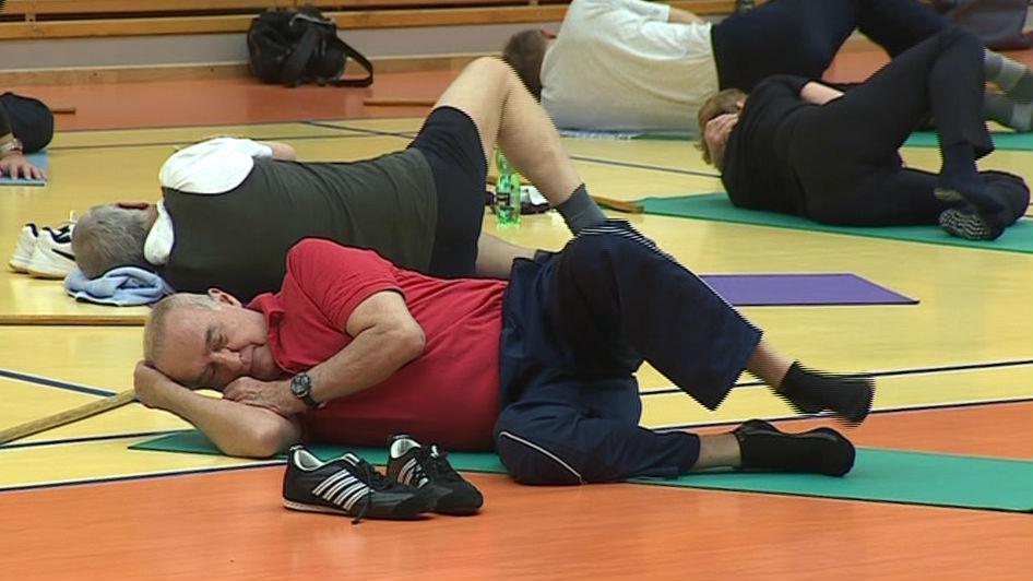 Cvičení seniorů na VUT