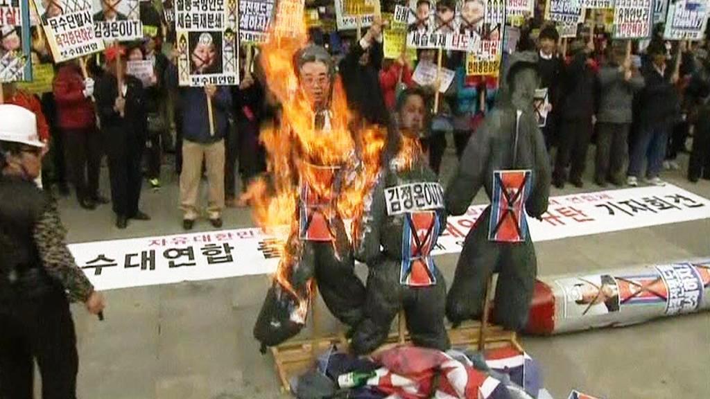 Jihokorejský protest proti KLDR