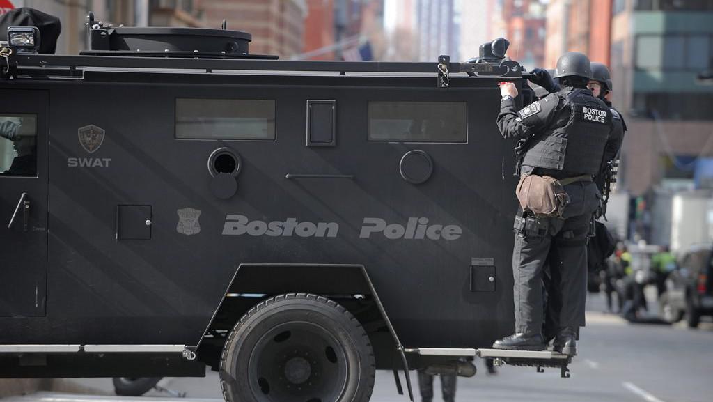 Místo exploze na Boylston Street