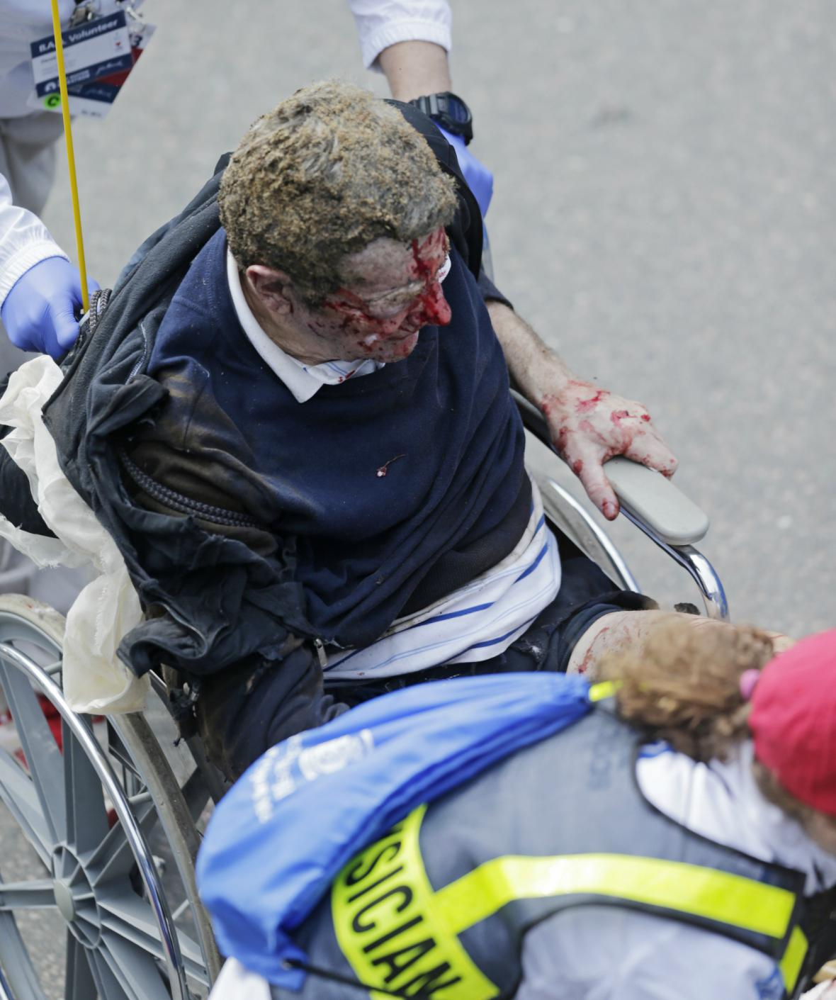 Výbuch na maratonu v Bostonu