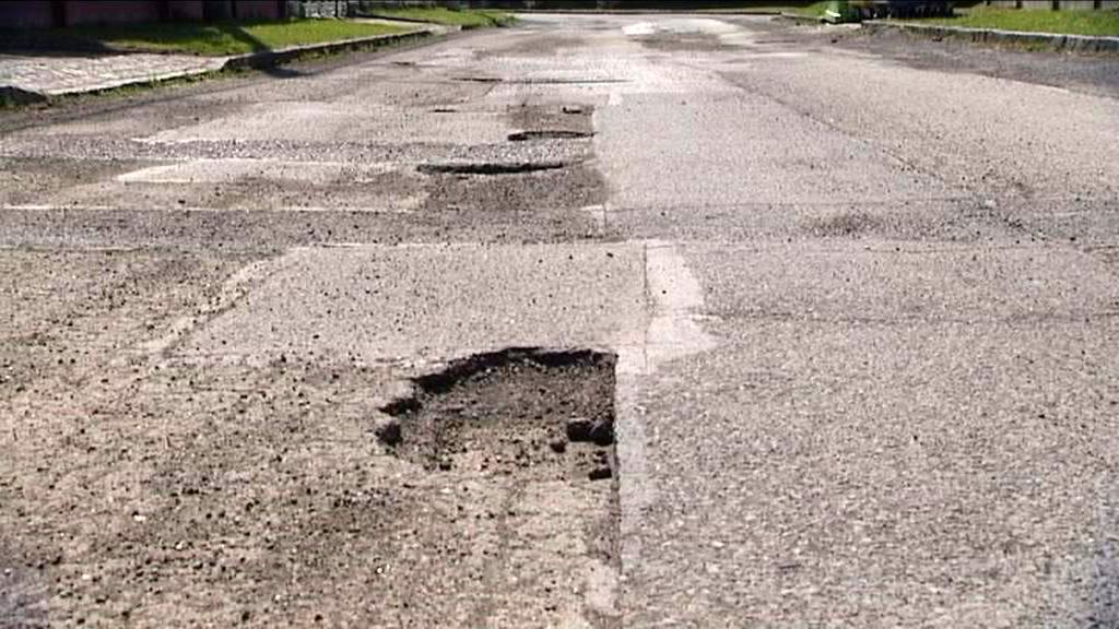 Výtluky na silnici