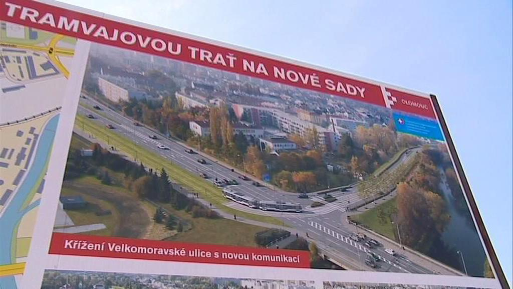 Výstavba nové tramvajové trati v Olomouci