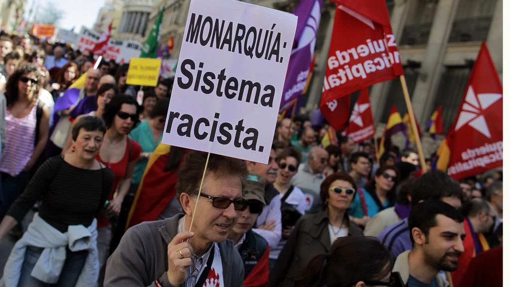 Protest Španělů proti monarchii