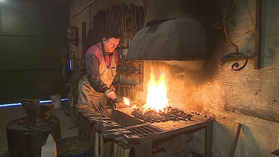 Újezdský umělecký kovář Ivo Lorenz