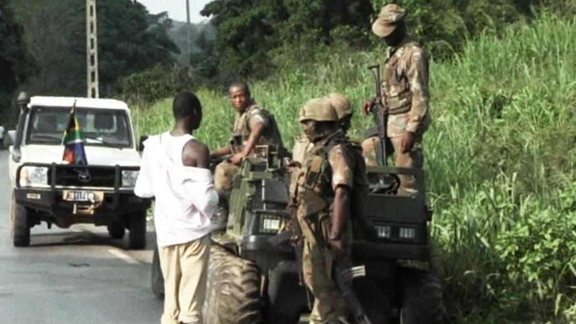 Vojáci ve Středoafrické republice