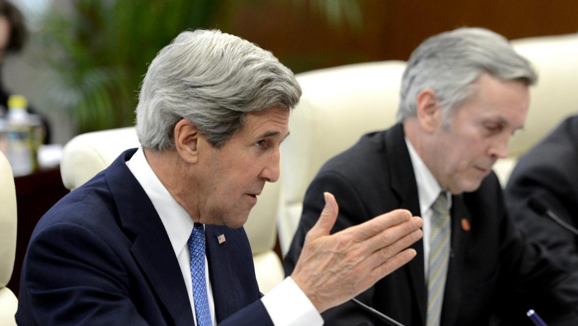 John Kerry na návštěvě Číny