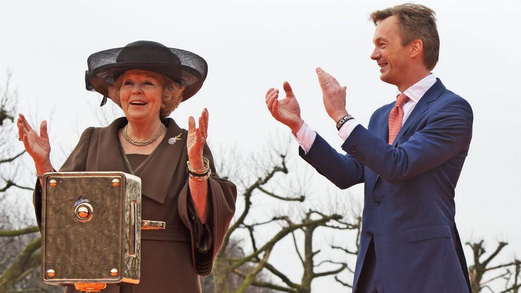 Nizozemská královna Beatrix při otevírání Rijksmusea