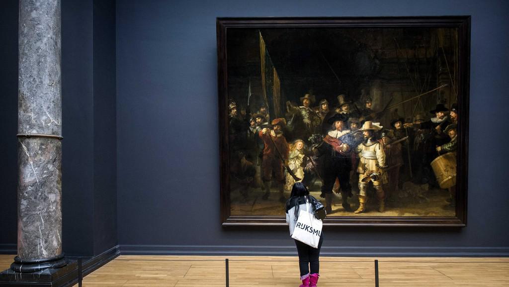 Rembrandtova Noční hlídka v Rijksmuseu