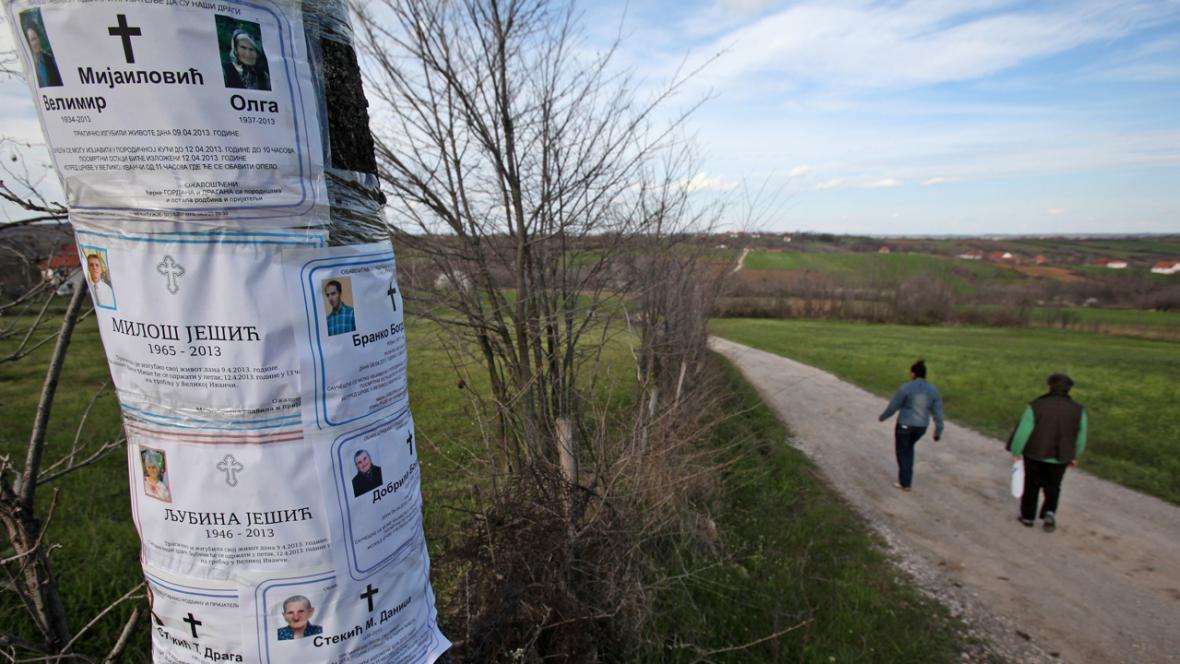 Úmrtní oznámení obětí masakru ve Velke Ivanči