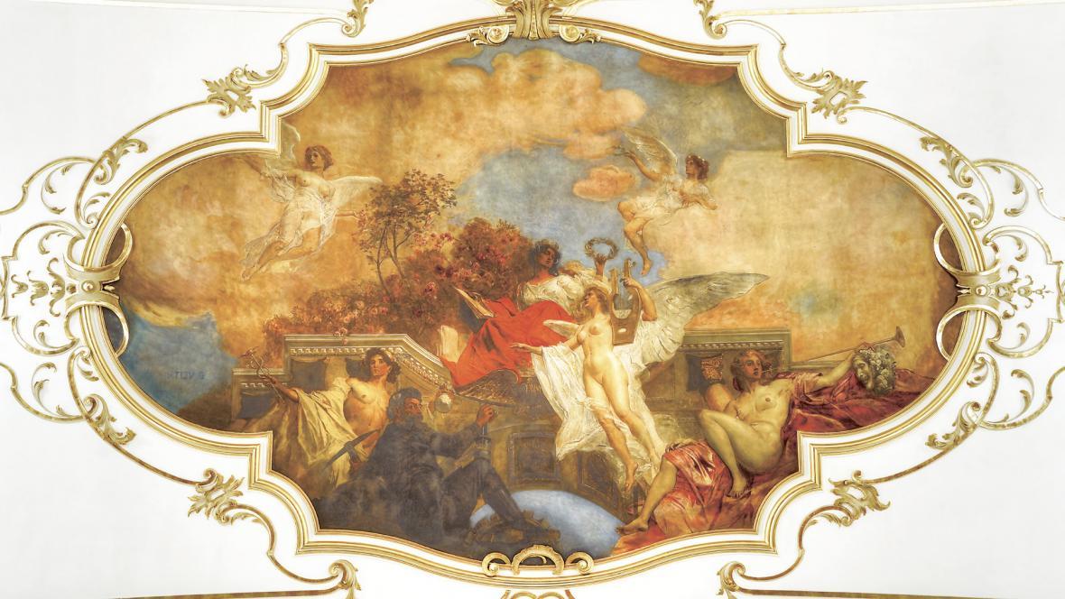 Divadlo Antonína Dvořáka - alegorická malba Eduarda Veitha