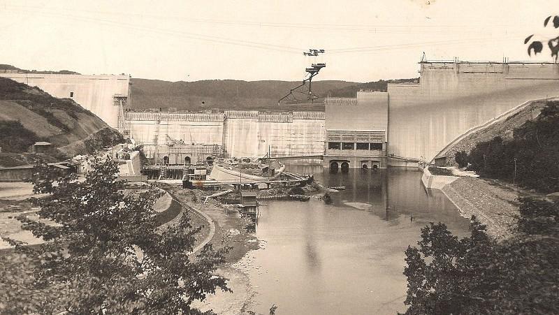Historické záběry Vranovské přehrady