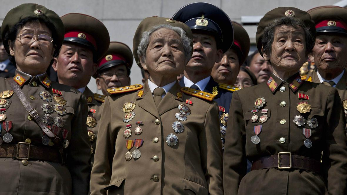Severokorejské oslavy