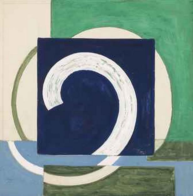 František Kupka / Déroulement sur bleu et vert