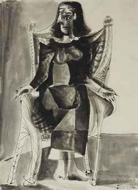 Pablo Picasso / Sedící žena