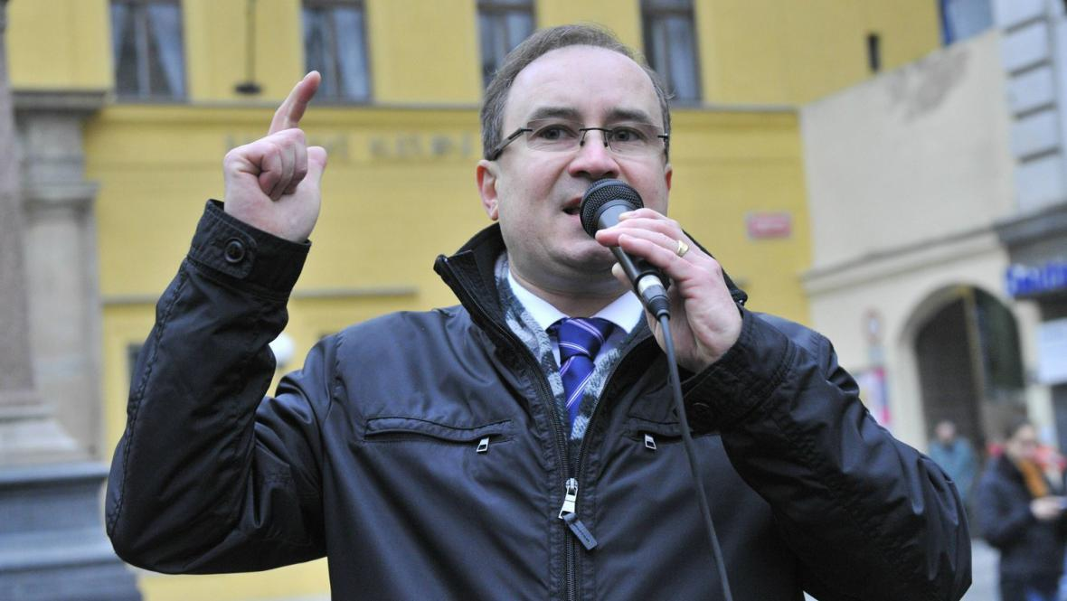 Předseda DSSS Tomáš Vandas