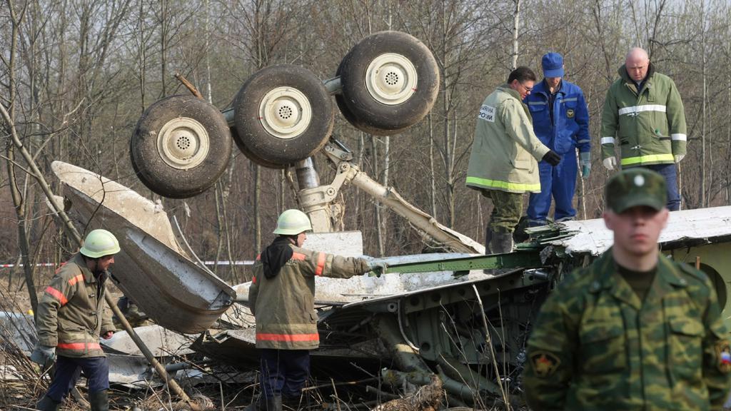 Nehoda polského letounu u Smolensku