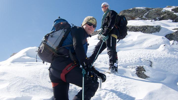 Michal Fila (vlevo) má rád hory a lyžování