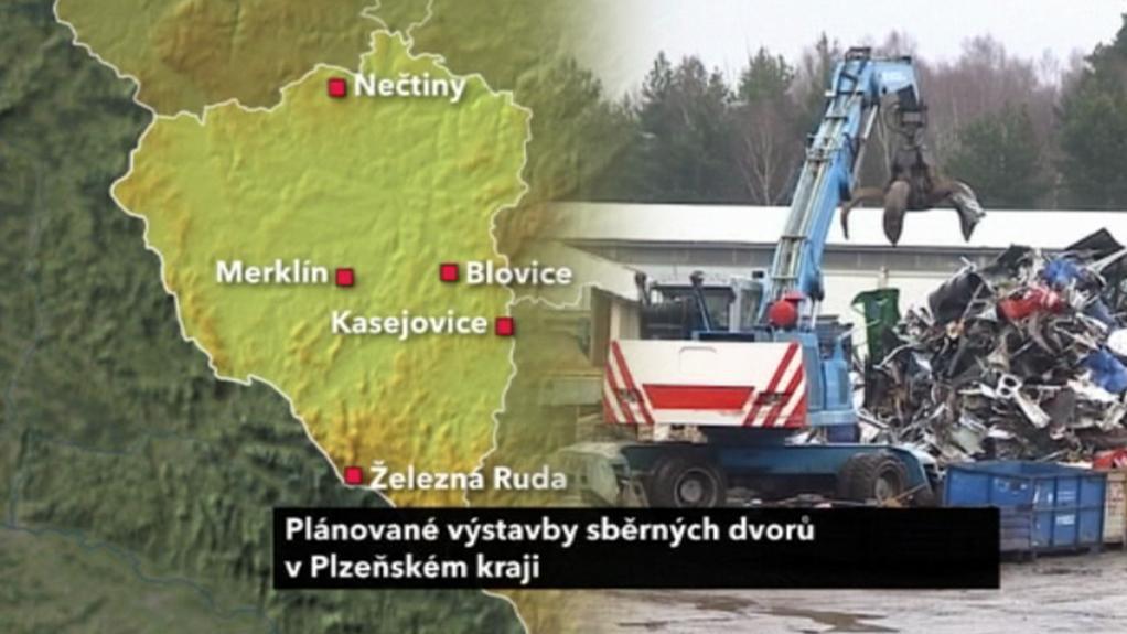 Plánované sběrné dvory v Plzeňském kraji
