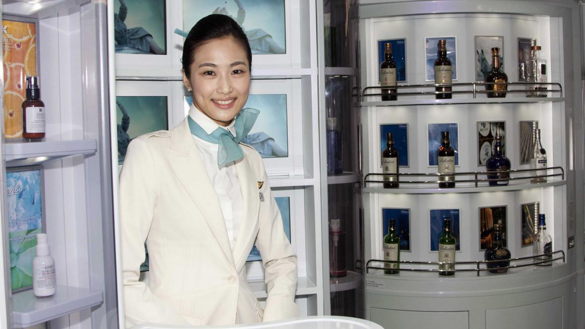 Interiér airbusu A380 společnosti Korean Air