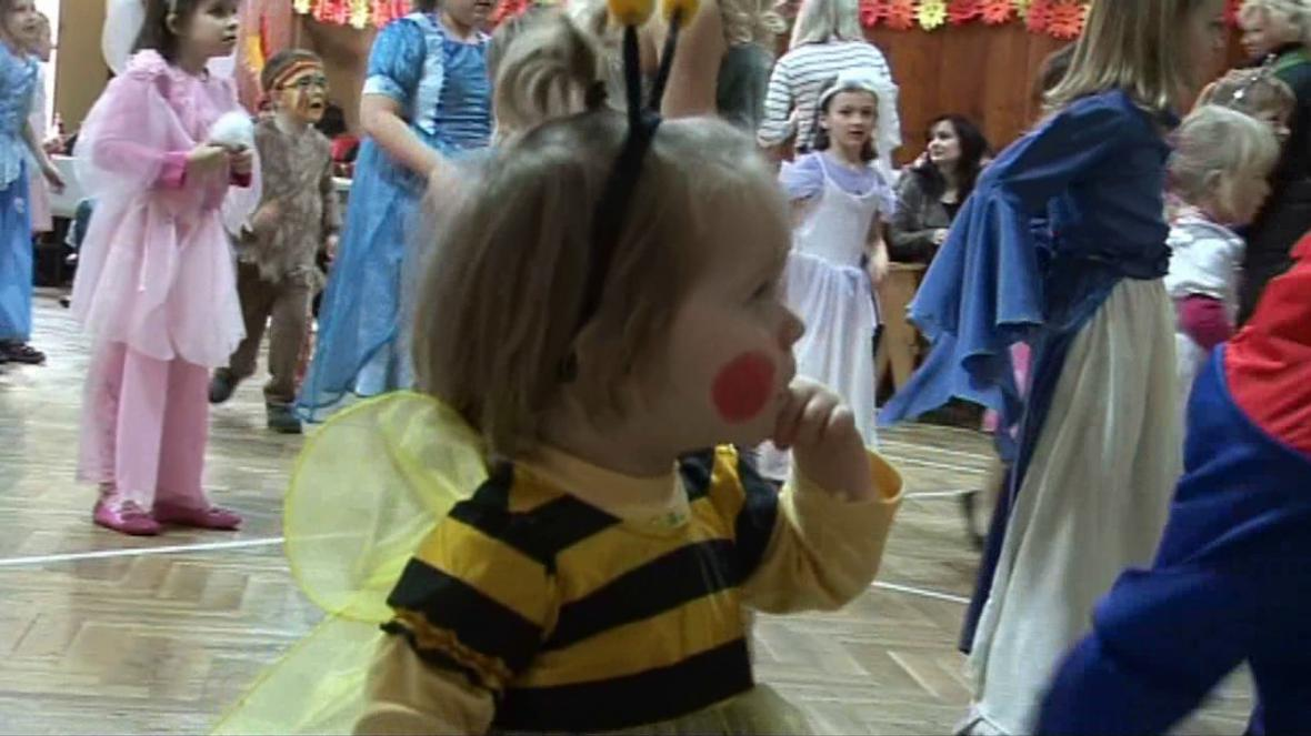 Dětský karneval v Okříškách