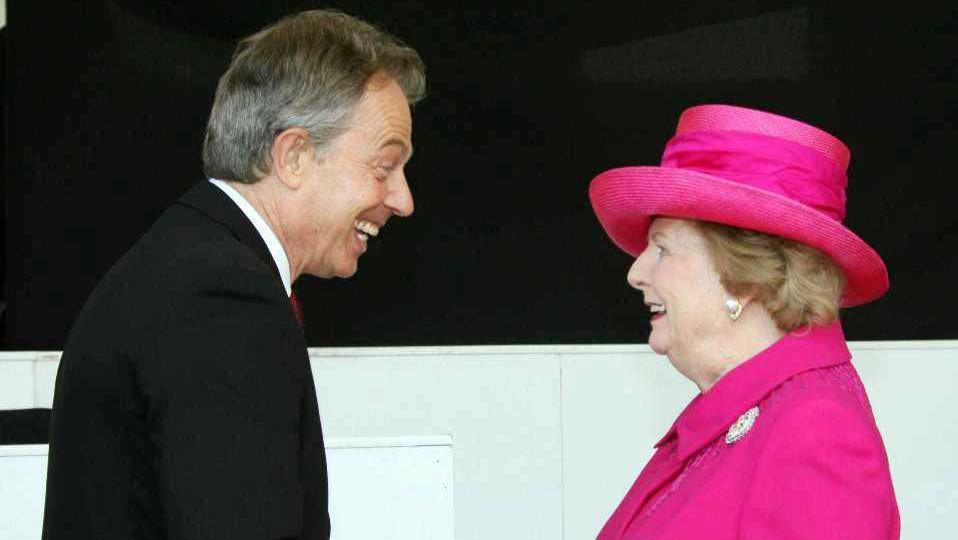 Tony Blair a Margaret Thatcherová
