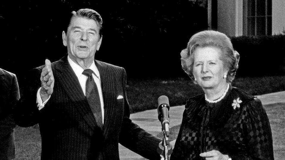 Ronald Reagan a Margaret Thatcherová
