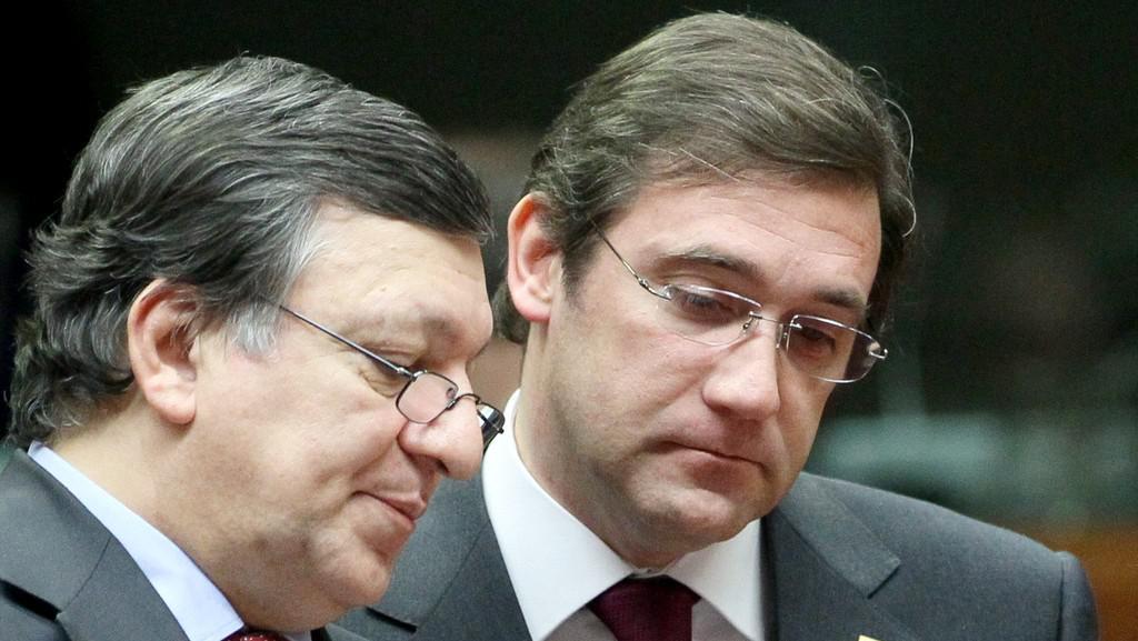 José Manuel Barroso a Pedro Passos Coelho