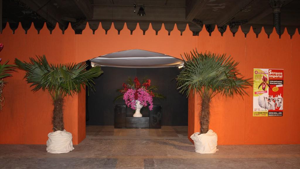 Výstava orchidejí v budově Velké pošty (Belgie - Liege)