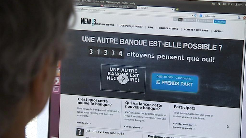Stránky belgické alternativní banky New B