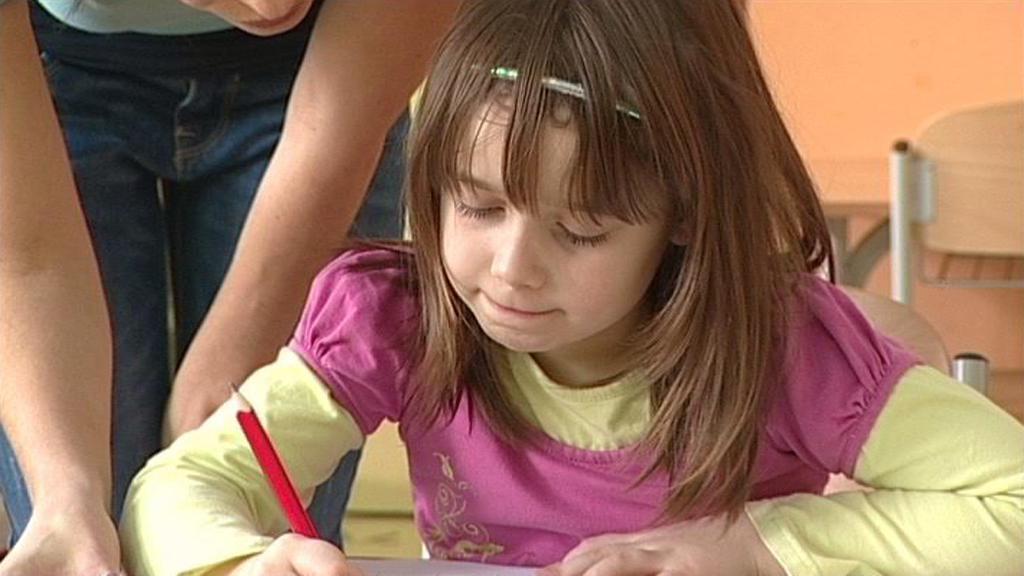 Děti v základní škole Nový svět v Opavě