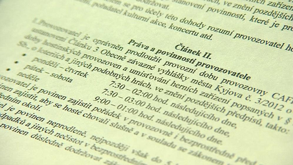 Detail kyjovské vyhlášky o provozní době restaurací